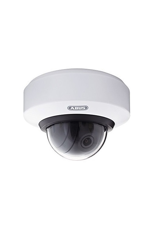 "ABUS Security-Center IP Innenraum Kuppel Weiß Sicherheitskamera Indoor 1/3"" Progressive Scan CMOS 280 x 720 WLAN 3x Optical Zoom PTZ microSD RJ-45 PoE IP54"