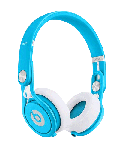 Beats Mixr, Limited Edition, Headset, volle Gr��e, Neonblau
