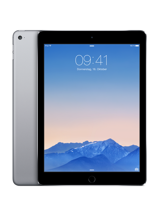 "Apple iPad Air 2 WIFI + Cellular 64 GB 9,7"" Grau"