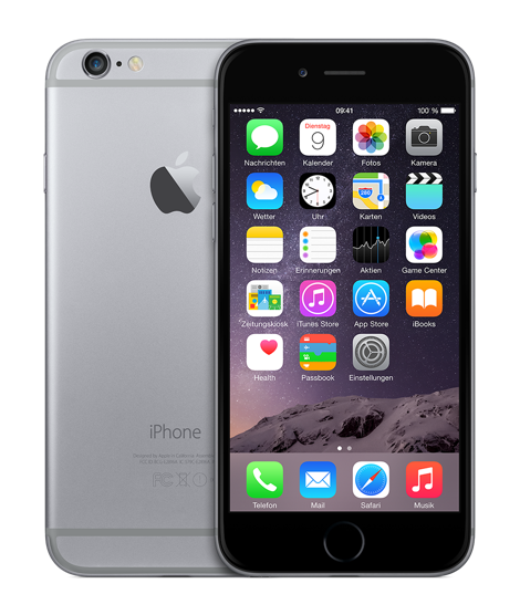 "Apple iPhone 6 4.7"" 16 GB grau (MG472ZD/A)"
