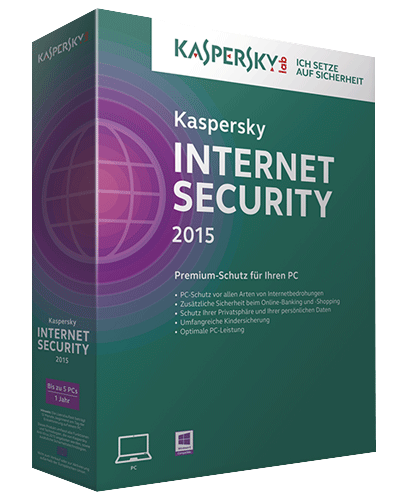 Kaspersky Internet Security 2015 (15.0) Upgrade, 3 User, 1 Jahr, ESD, Download Software, Win, Deutsch