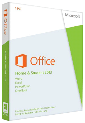 Microsoft Office 2013 Home and Student, 32/64 Bit, Product Key Card (PKC Medialess), SB, Deutsch