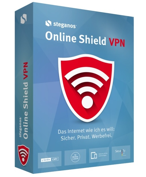 Steganos Online Shield VPN 2018 Win, Deutsch
